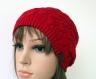 Bonnet femme tricoté beanie 100% laine n034