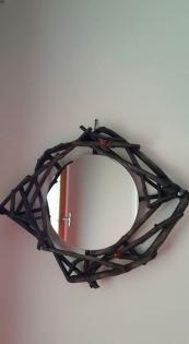 Miroir bois flotte teinte