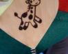 Porte photo coeur avec girafe