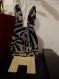 Support téléphone lapin zebre