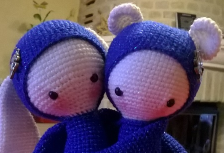 Rita et bina - création pour concours saint valentin février 2017.