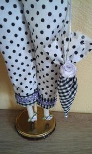 Tilda - les poupées de chiffon - prête pour faire les courses !!
