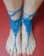 Bijou de pied coton bleu