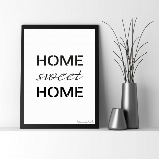 Affiche a4 / home sweet home
