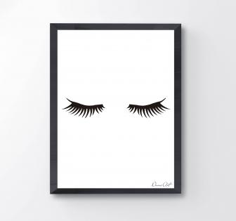 Affiche a4 / cils minimaliste