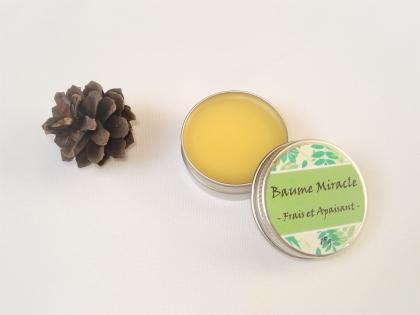 Baume miracle - frais et apaisant - pour courbatures, zones douloureuses, piqûres d'insectes, etc - 15 g