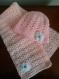Ensemble bonnet et écharpe bébé fait main au crochet