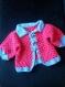 Veste en laine au crochet fait main pour bébé de 3 à 6 mois