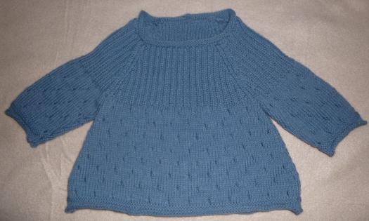 Pull bleu denim - taille 6 mois