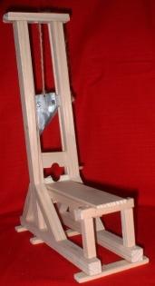 Maquette de guillotine, modèle 1792