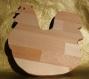 Dessous de plats, ou planche à découper, en bois de hêtre massif , poule .