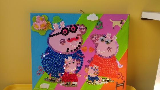 Joli tableau famille pepapig dessin anime