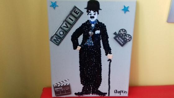 Joli tableau charlie chaplin thème cinéma