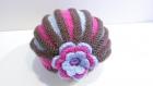 Bonnet accordéon fille au tricot de 0 à  14 ans au point de gordon, chapeau accordéon fille multicolore