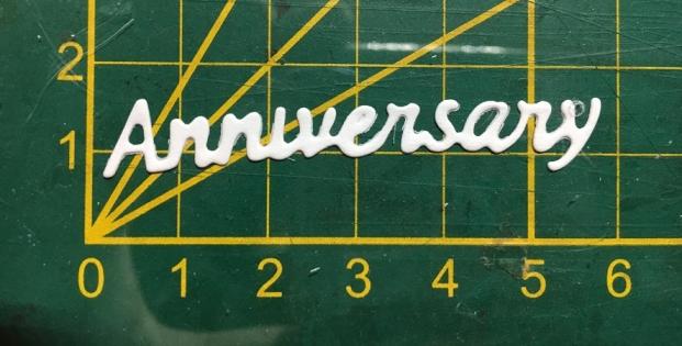 Scrapbooking découpe écriture anniversary
