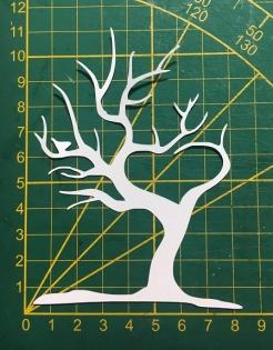 Scrapbooking découpe arbre coeur