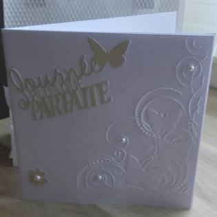 Mariage carte - enveloppe - pochette