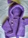 Veste violette à capuche