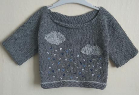 Pull bébé jour pluvieux