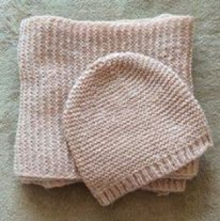 Ensemble bonnet + echarpe