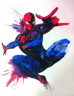 Peinture spider man