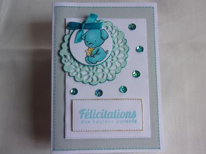 Carte de naissance bleue