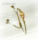 Bracelet scarabée en cristal de swarovski cristal metallic sunshine