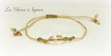 Bracelet scarabée en cristal de swarovski golden shadow (lien kaki sur bronze clair)