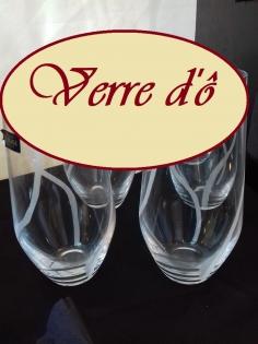 Lot de 6 verres cristal de bohême