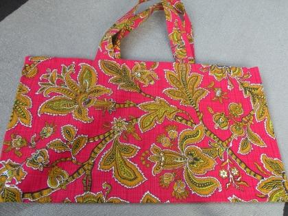 Trc 017 sac de plage rouge et or