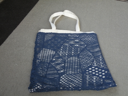 Trc 024 tote-bag beige et bleu