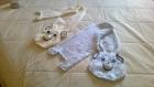 Petites écharpes bébé tricotées aux aiguilles