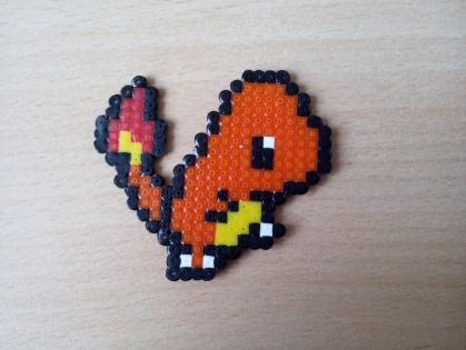 Pixel art - salameche - pokemon