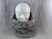 Snood torsadé couleur gris