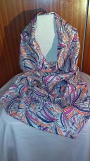 Snood - écharpe tube - motifs aux coloris acidulés