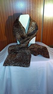Petit foulard mousseline 100 % soie - léopard