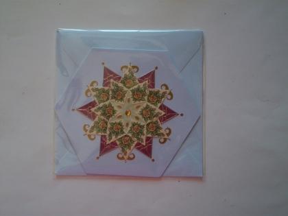 Double carte 3d octogonale