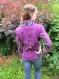 Veste laine bouillie violet/noir - 38/40