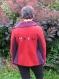 Veste laine bouillie rouge/violet- 40/42