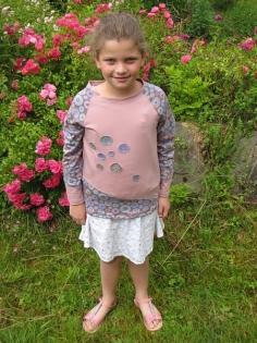 T-shirt - fille - vieux rose - 10 ans