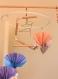 Mobile bois suspension chambre enfant bébé en origami oiseau pigeon paon bebe