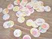 50 confettis pour fête d'enfant - décoration de table ou emballage cadeau