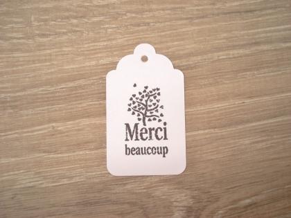 10 étiquettes merci beaucoup - emballage cadeau ou occasion particulière
