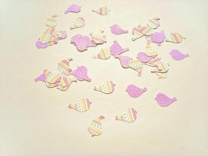 50 confettis oiseau - décoration table - emballage cadeau