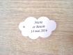 10 étiquettes nuage - mariage, baptême, anniversaire,... - a personnaliser