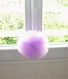 Pompon moyen en tulle couleur parme - décoration de mariage ou décoration romantique - couleurs au choix