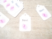 10 étiquettes merci coeur empreintes - emballage cadeau ou occasion particulière