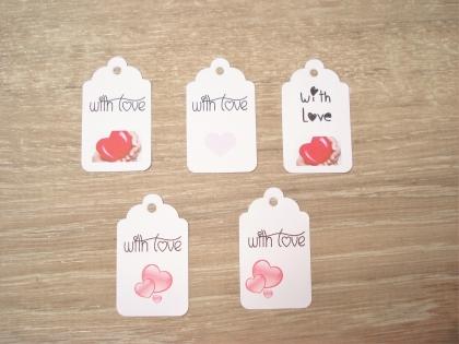 10 étiquettes with love - modèle au choix