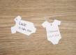 10 étiquettes body - baptême, anniversaire,... - a personnaliser
