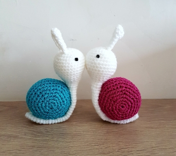 Escargot flocky au crochet